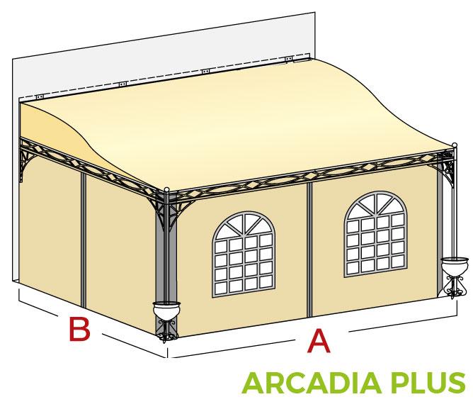 Pensilina a muro Arcadia