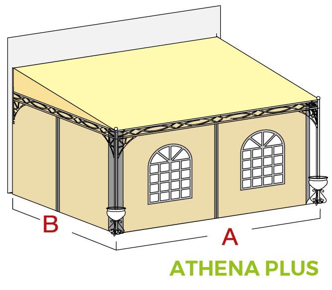 Disegno pensilina Athena Plus