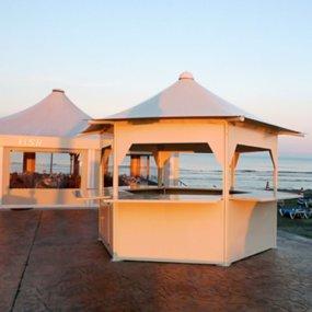 stand avant chiosco spiaggia