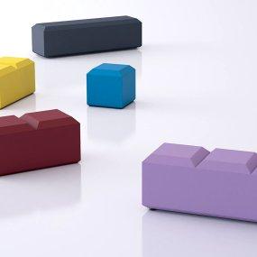 domino V collezioen cridea sedute panca e tavolino